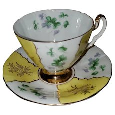 Adderley Fine Bone China Teacup Saucer Set England