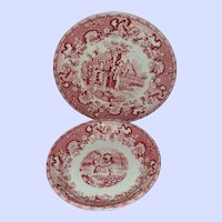 2 Red Transfer Treasures Playtime Royal Crown CH & Co England