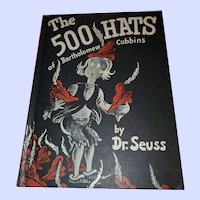 Hard Cover Book Club Edition Dr Seuss The 500 Hats of Bartholomew Cubbins