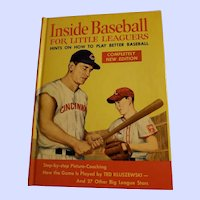 Collectible Hard Cover Book Inside Baseball For Little Leaguers