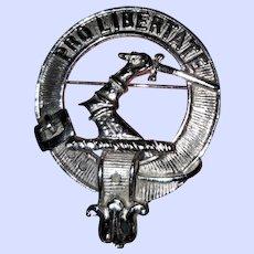 Clan Wallace Crest Badge Pin Brooch Scotland