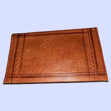 Souvenir  Leather Billfold Wallet Made in Morocco