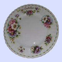 "Royal Albert Bone China 8"" Plate Flower Month Series October Cosmos"