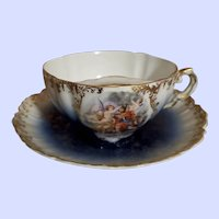 Decorative Mustache Cup Saucer Royal Bavarian China