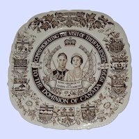 Commemorative Royalty Plate King George  VI Queen Elizabeth 1939