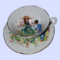 Royal Grafton England Teacup Saucer Signed Foster