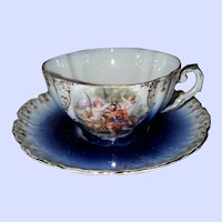 Royal Bavarian PMB Teacup Saucer Set Germany