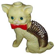 Sweet Ceramic Kitty Cat Letter Holder