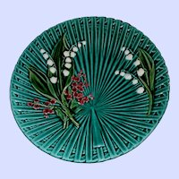 Hand Painted Villeroy Boch Majolica Style 9.5 inch Plate