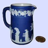 "Vintage Blue Wedgwood England Jasperware Small 4"" Pitcher Creamer"