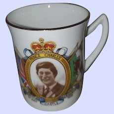 Small Commemorative Cup 1969 Investiture Prince Charles