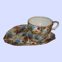 Royal Winton Marguerite Chintz Luncheon Set