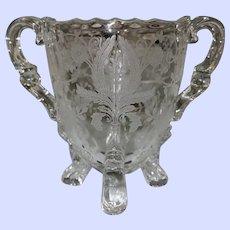 Viking Prelude Crystal Creamer & Sugar Decorative Glassware