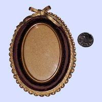 Small Brass Decorative Wall Mount Style Picture Frame