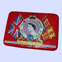 Collectible Tin Litho Advertising Tin OXO Queen Elizabeth Coronation