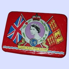 Collectible Tin Litho Advertising Tin OXO Queen Elizabeth Coronation