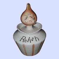 Mid-century ESD Japan Anthropomorphic Pixieware Relish Jar