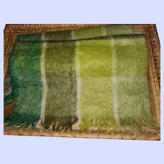 Vintage Hand A Craft Fringed Wide Mohair Wool Scarf