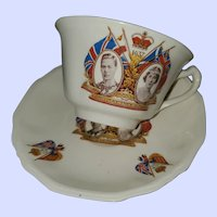 Royalty Teacup Saucer To Commemorate King George VI Queen Elizabeth
