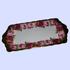 Royal Albert Old English Rose Bone China Tray