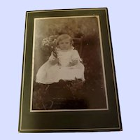 Charing Photograph Little Child Holding Flowers