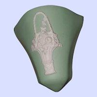 ECanada Art Pottery Hamilton ON Green Jasperware Wall Pocket