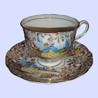 Colclough Lady in the Garden Tea Cup Saucer Set England