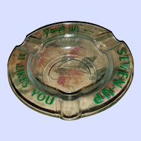 Vintage Advertising Glass Ashtray Seven-Up