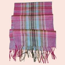 Pretty Vintage 100% Cashmere Fringed Scarf Scotland