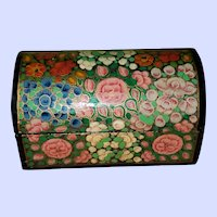 Collectible Small  Lacquer Paper Mache Painted Chest Box India