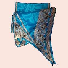 Designer Signed Anne Klein All Silk Wing Tip Scarf