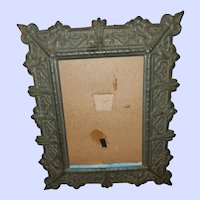 Vintage Decorative Embossed Tin Picture Frame No Glass