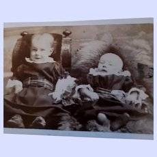 Sweet Vintage Photograph of Little Babies