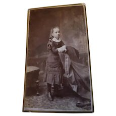 Vintage Photograph Young Girl  with Long Hair