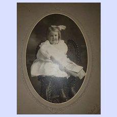Photograph Pretty Little Girl Yarmouth Portrait Company