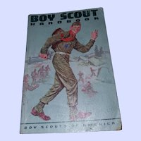 Soft Bound Boy Scouts of America Handbook Norman Rockwell Cover