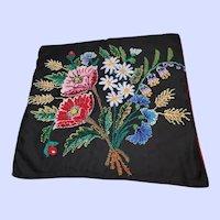Beautiful Hand Stitched Stump Work Pillowcase