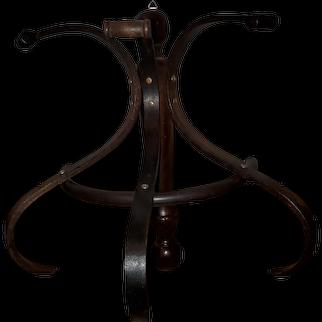 1960s Half Circle Bentwood Hat Rack