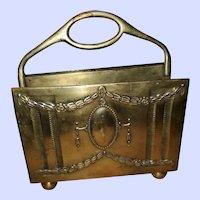 Decorative Vintage Brass Metalware Letter / Napkin Stand Holder