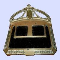 Geschutzt Depose Brass Metalware Inkwell Stand