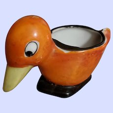 Charming Vintage Hand Painted Figural Bird Egg Cup Eggcup