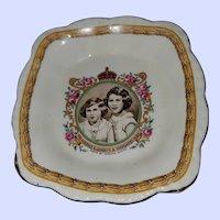 Portrait  PIN Dish Princess Elizabeth Margaret Rose Creampetal