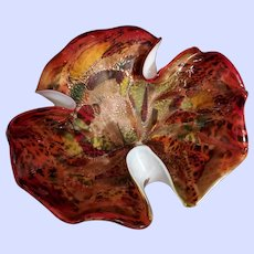 MCM Murano Art Glass Adventurine Tutti Frutti Bowl