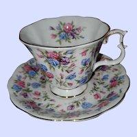 Royal Albert Teacup Saucer Set Mayfair Nell Gwynine Series Chintz