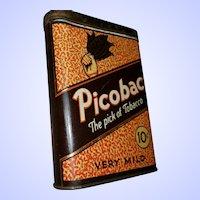 Vintage Advertising Tin Litho Vertical Pocket Style Imperial Tobacco Tin PICOBAC