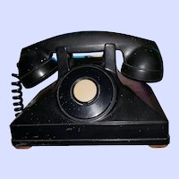 DECO Era Northern Electric Black Bakelite  Telephone Canada   As IS