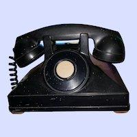 DECO Era Northern Electric Black Bakelite  Telephone Canada   As IS