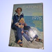 VTG Retro Era Advertising Catalogue Catalog EATON'S 1976