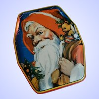 Vintage Advertisung Tin Litho Toffee Box By G. HORNER England Father Christmas