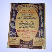 VTG The T EATON Co. Spring & Summer 1933 Advertising Catalogue  Catalog